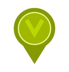 Button checkbox icon flat style vector