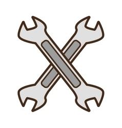 Cartoon steel spanner tool repair vector