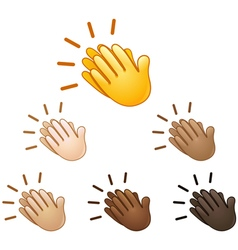 Clapping hands sign emoji vector