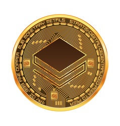 crypto currency stratis golden symbol vector image vector image