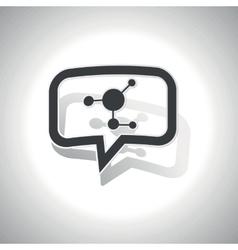 Curved molecule message icon vector