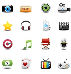 Entertainment and movie icons set vector
