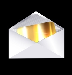 Envelope and golden card vector