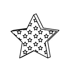 Figure star with many stars inside icon vector