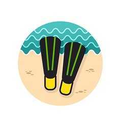 Flippers icon summer vacation vector