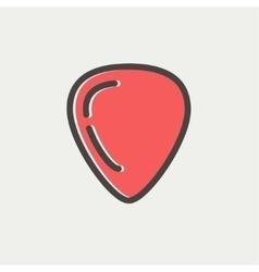 Guitar pick thin line icon vector