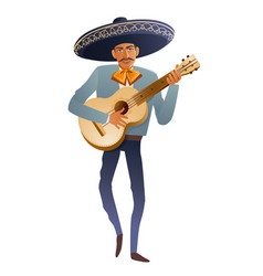 mariachi band musician guitarist mexican vector image vector image