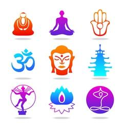 Oriental icons vector