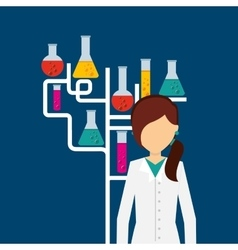 scientific laboratory worker concept vector image