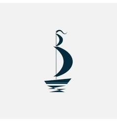 ship boat icon vector image