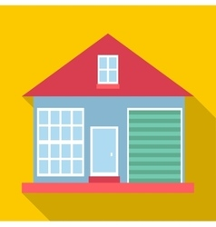 Small house icon flat style vector