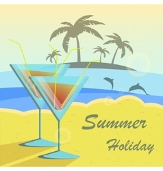Summer holidays set with vector image vector image