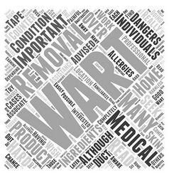 The dangers of at home wart removal word cloud vector