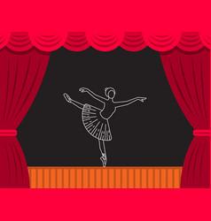 theatre ballet banner vector image vector image