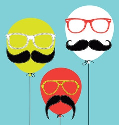 Hipster Balloons vector image