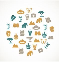 Africa symbols vector