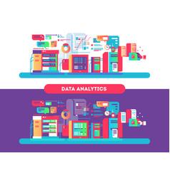 data analytics design flat vector image