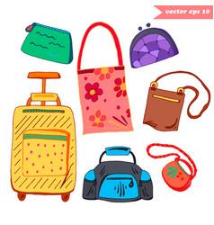 Luggage set vector