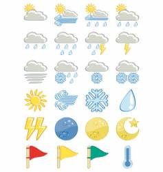 Weather icon-set vector