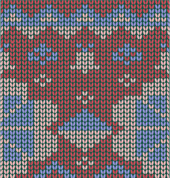 Knitted-pattern-geometric background vector