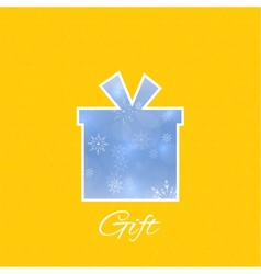 Gift box with a bow vector