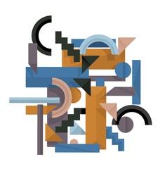 3d geometric background vector