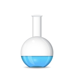 Flat bottomed chemical flask - lab glassware vector