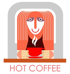 coffee in cafe vector image