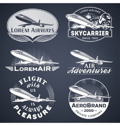 Air badges white vector