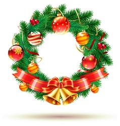 Green christmas wreath vector