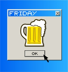 Computer beer message vector