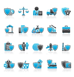 Business and industrial insurance icons vector