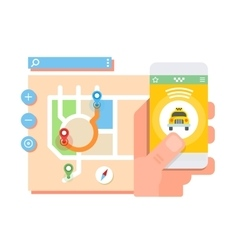 Taxi application concept vector image