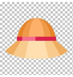 Summer hat isolated on checkered background vector