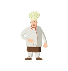 Chef icon in cartoon style vector