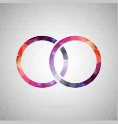 Abstract creative concept icon of ring for vector