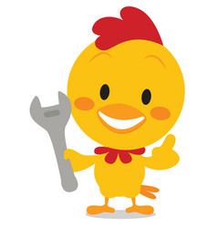 Art chick with tools vector