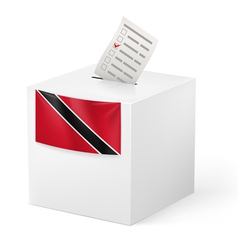 Ballot box with voting paper trinidad and tobago vector