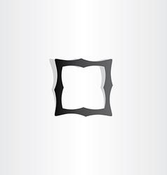 black empty frame icon vector image vector image