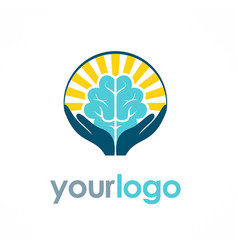 brain idea logo vector image