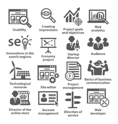 Business management icons Pack 07 vector image vector image
