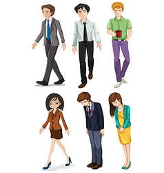 Businessminded individuals vector image vector image