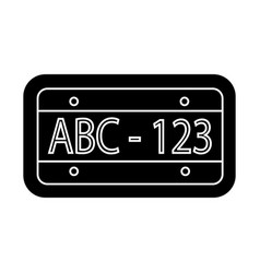 car number icon black sign vector image