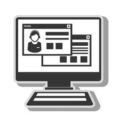 computer website page isolated vector image