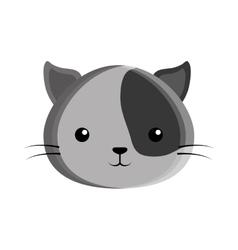 cute cat kawaii style vector image