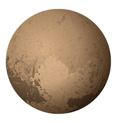 Dwarf Planet Pluto Isolated on White vector image vector image