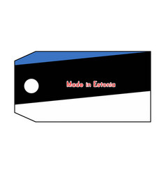 Estonia flag on price tag with word made in vector