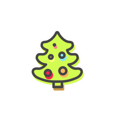 Evergreen pine tree christmas vector