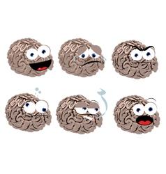 Funny Brain vector image vector image