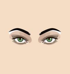 green eyes woman vector image vector image